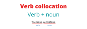 Verb collocation