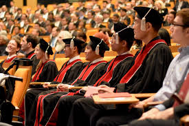 a graduation ceremony in English images