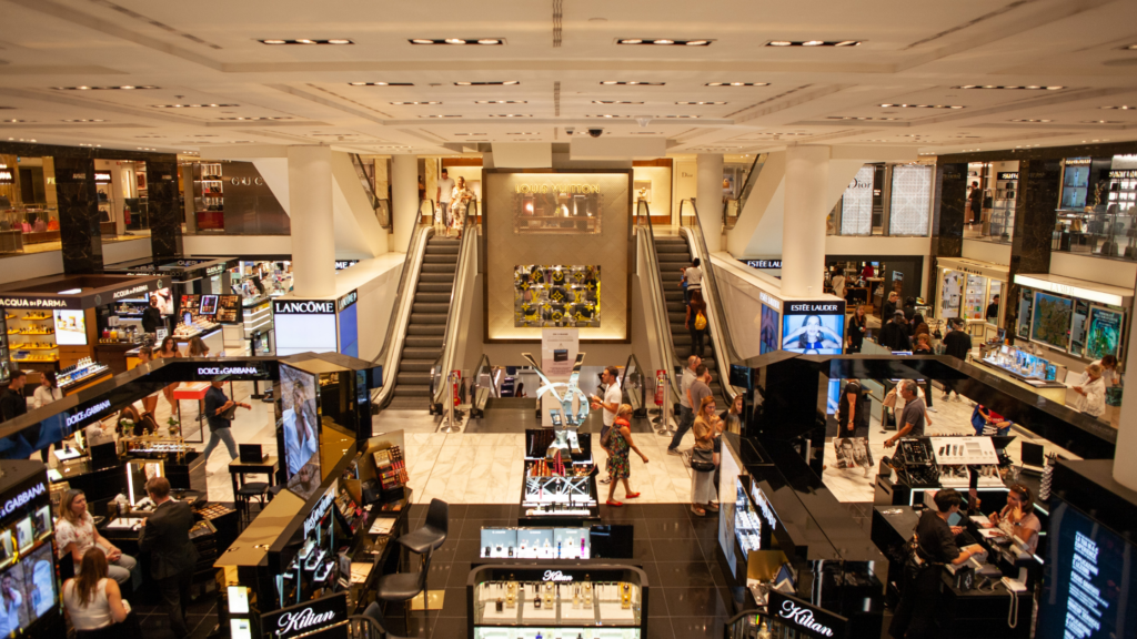 shopping mall image