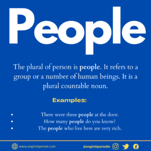Meaning of people