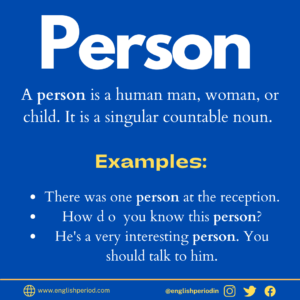 Meaning of person