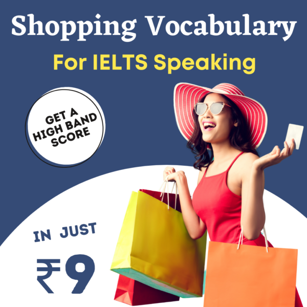 shopping vocabulary for ielts speaking