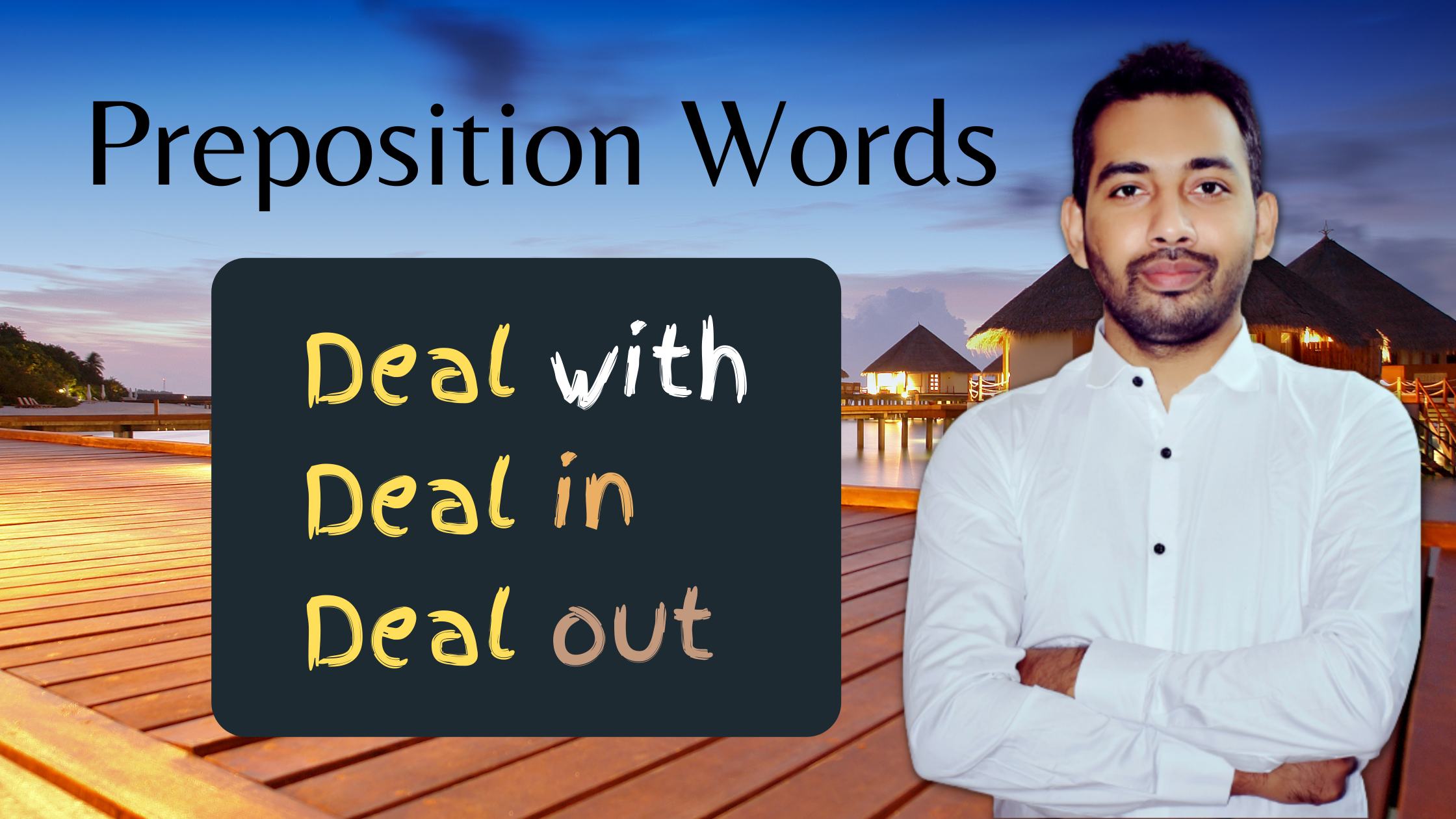 Preposition words with Deal