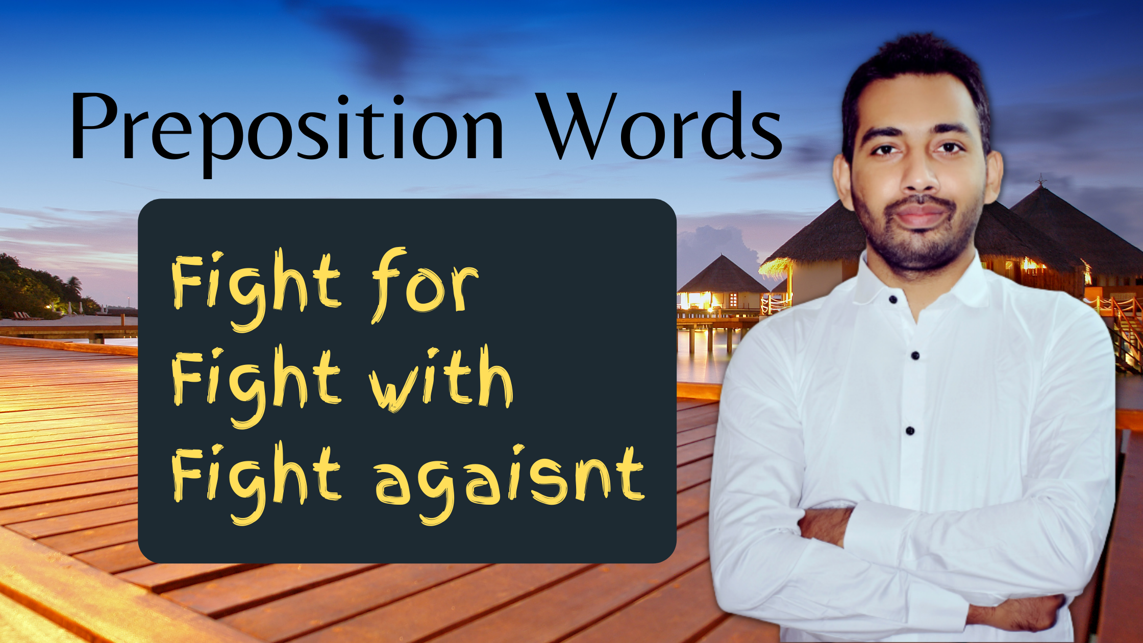 Preposition words with fight