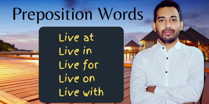 Preposition words with live